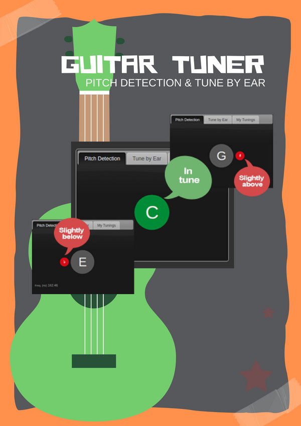 Guitar Tuner | Pitch detection and tune by ear