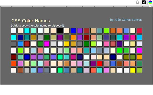 CSS Color Names Screenshot